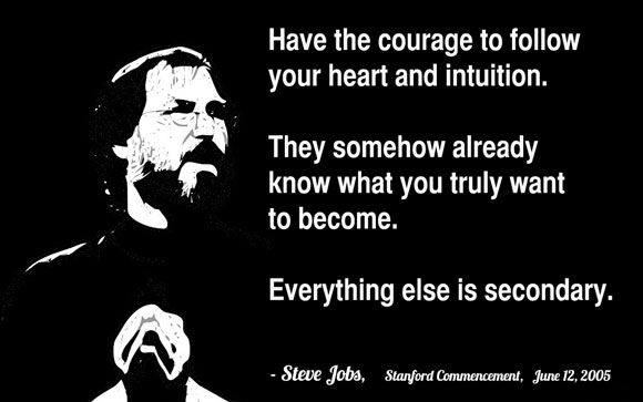Steve Jobs quote about living life to the fullest.