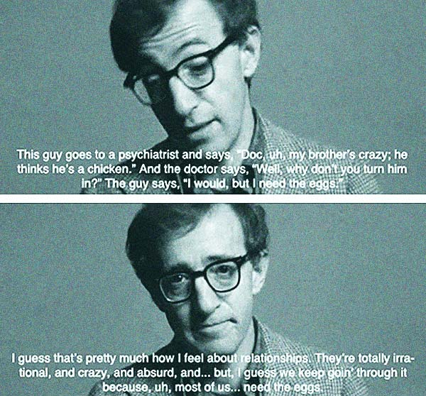 Woody Allen Need the Eggs