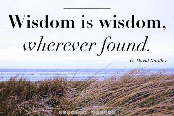 Wisdom Is Found Wherever